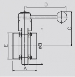 hoyer brauereitechnik shop scheibenventil gg din dn 40 f r rohr din 11850. Black Bedroom Furniture Sets. Home Design Ideas